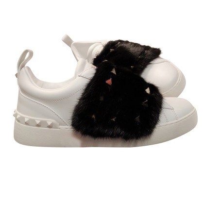 Valentino  Sneakers with fur trim