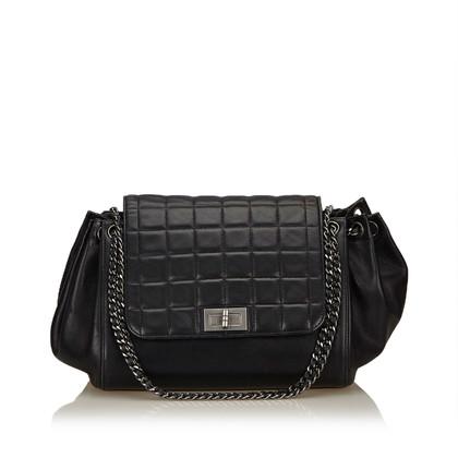 "Chanel ""Choco Bar Accordeon Flap Bag"""