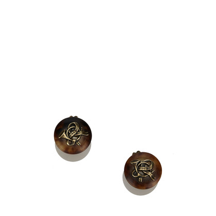 Hermès Round Clip On Earrings