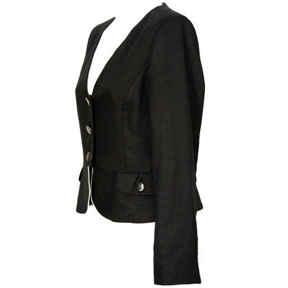 Hobbs Black jacket made of linen