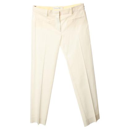 Christian Dior Witte katoenen broek