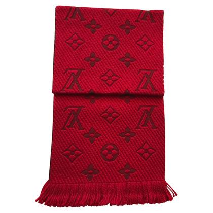 Louis Vuitton Logomania sjaal in het rood