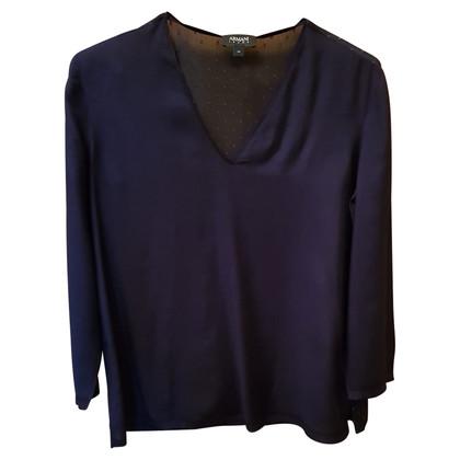 Armani Jeans Blaue Bluse