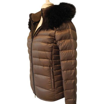 Duvetica Down jacket with fur trim