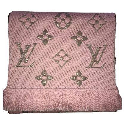 Louis Vuitton Logo Mania Shine-sjaal in roze