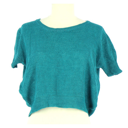 Agnès B. Short-sleeved sweater in turquoise