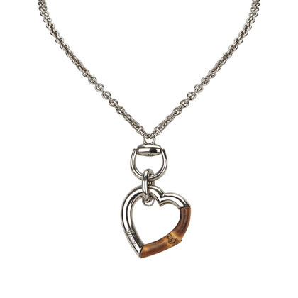Gucci Silver colored necklace with pendant