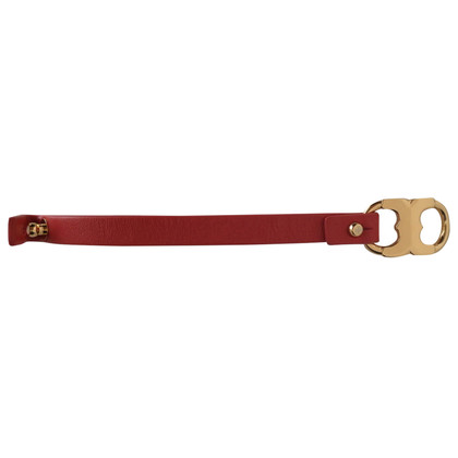 Tory Burch Leather bracelet in red