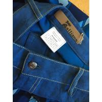 John Galliano Gonna blu seta+ jeans 40 FR