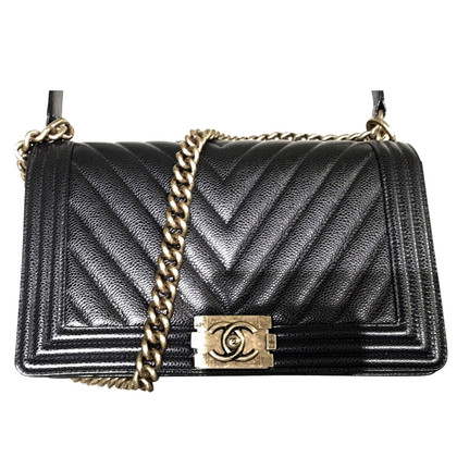 "Chanel ""Boy Bag"" aus Kaviar-Leder"