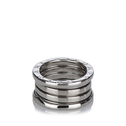 "Bulgari ""Drie band Ring"" in 18K wit goud"