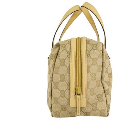 Gucci Borsa Monogram in tessuto e pelle beige
