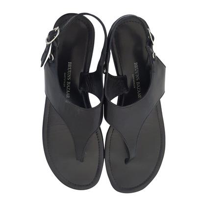 Bruuns Bazaar black leather sandals
