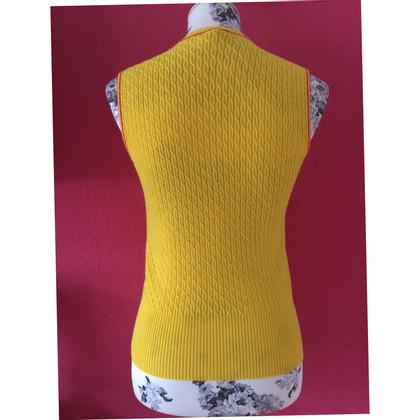 Escada Gilet Pull de laine jaune