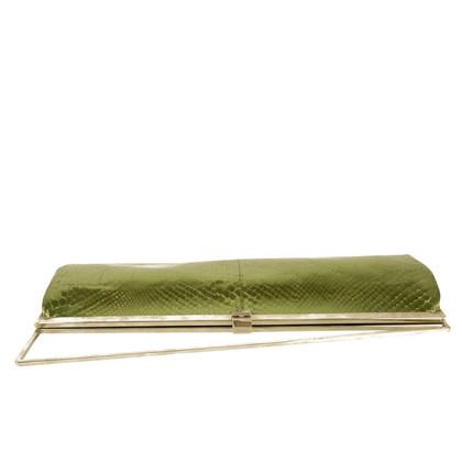 Gianni Versace clutch en vert