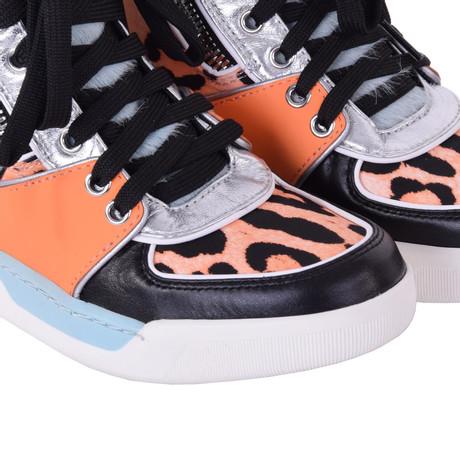 Dolce & Gabbana High-Top-Sneakers in Orange Bunt / Muster Outlet-Store Günstiger Preis Store Verkauf Besten Preise Webseite Günstiger Preis Spielraum Bestseller BGqP26