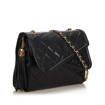 Chanel Double Flap Bag in Schwarz