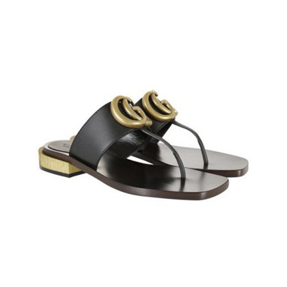 Gucci Sandals with gold logo