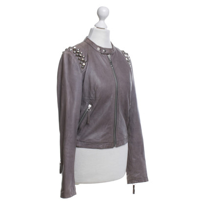 Faith Connexion Leather jacket with rhinestones