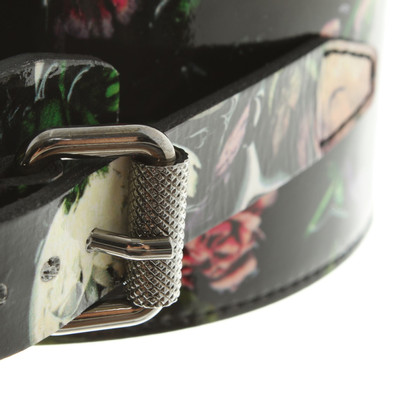 Alexander McQueen Waist belt with floral print