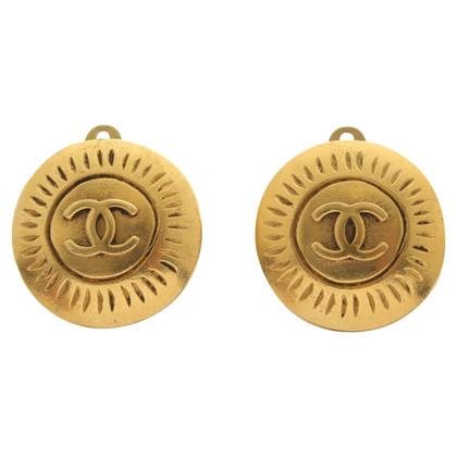 Chanel Anciens clips d'oreilles couleur or