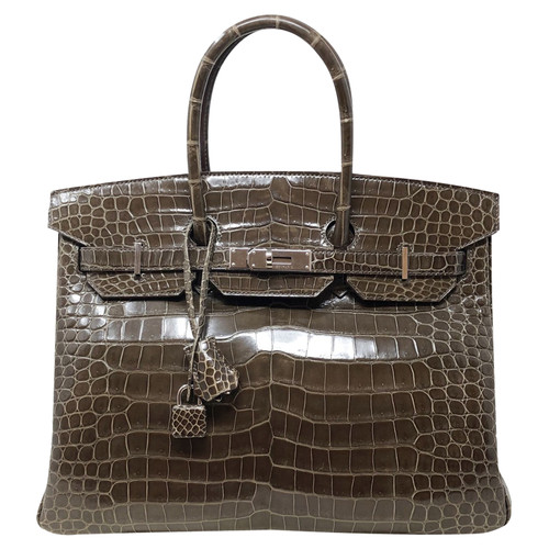 c0cf8e79f5655 Hermès Birkin Bag 35 crocodile leather - Second Hand Hermès Birkin ...