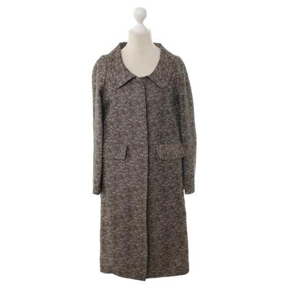 Marni Coat in brown/white