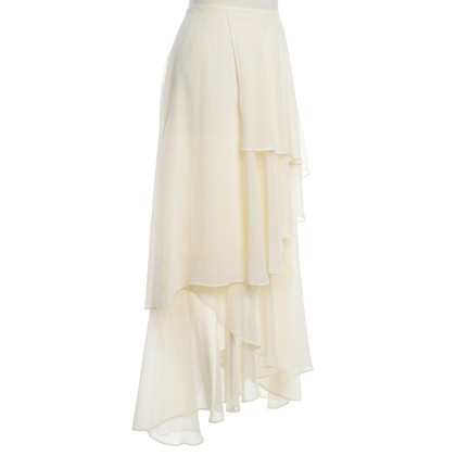 Karl Lagerfeld skirt with volants in cream