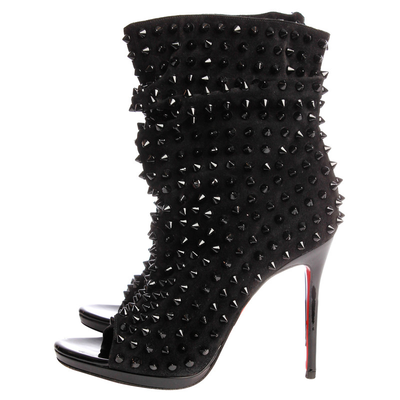 Christian Louboutin  Peep-toe ankle boots