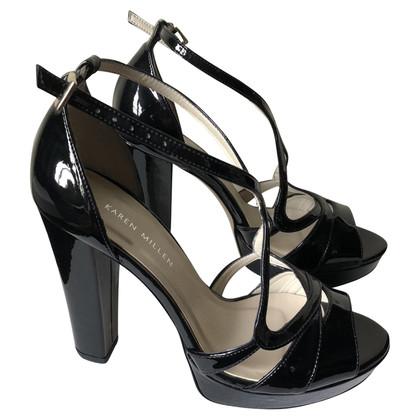 Karen Millen Laksleren sandalen