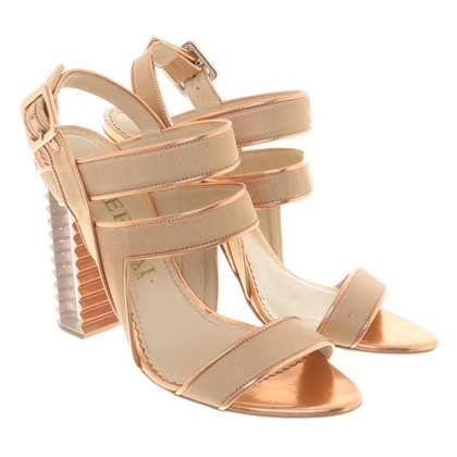 Aperlai Metallic sandals
