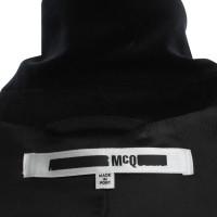 Alexander McQueen Longjacke in black