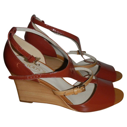 Tod's Leather wedges