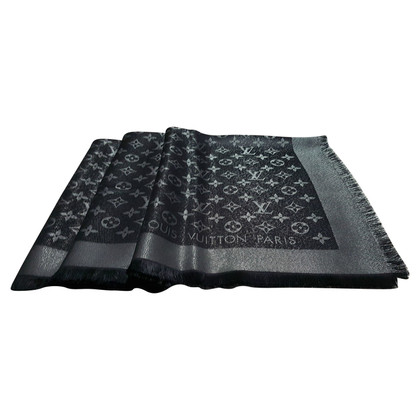 Louis Vuitton Panno Monogram Shine in nero / argento