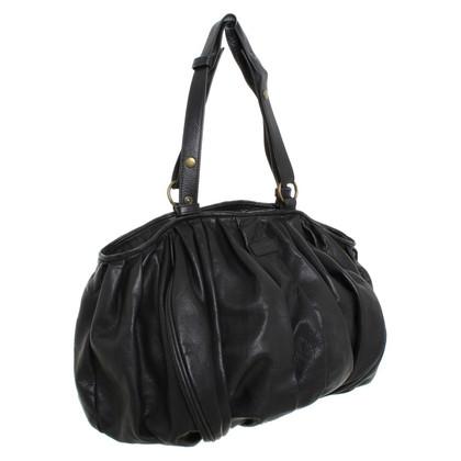 Strenesse Blue Lederhandtasche in Schwarz