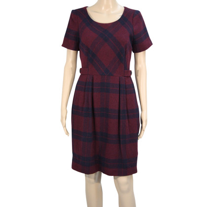 Hobbs Geruite jurk in Bordeaux