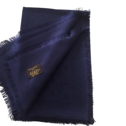 Louis Vuitton Monogramma sciarpa blu notte