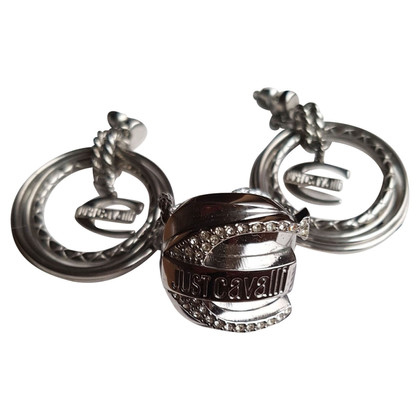 Just Cavalli Silver colored earrings and ring