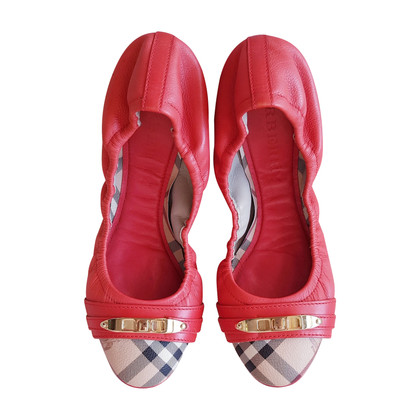 Burberry Ballerina's in rood