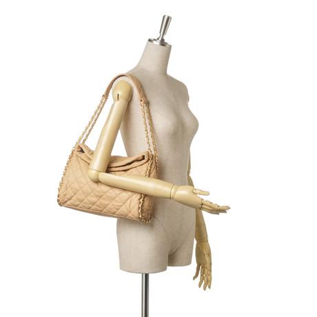 Fälschung Spielraum Angebote Chanel Schultertasche Beige J7ehcq1
