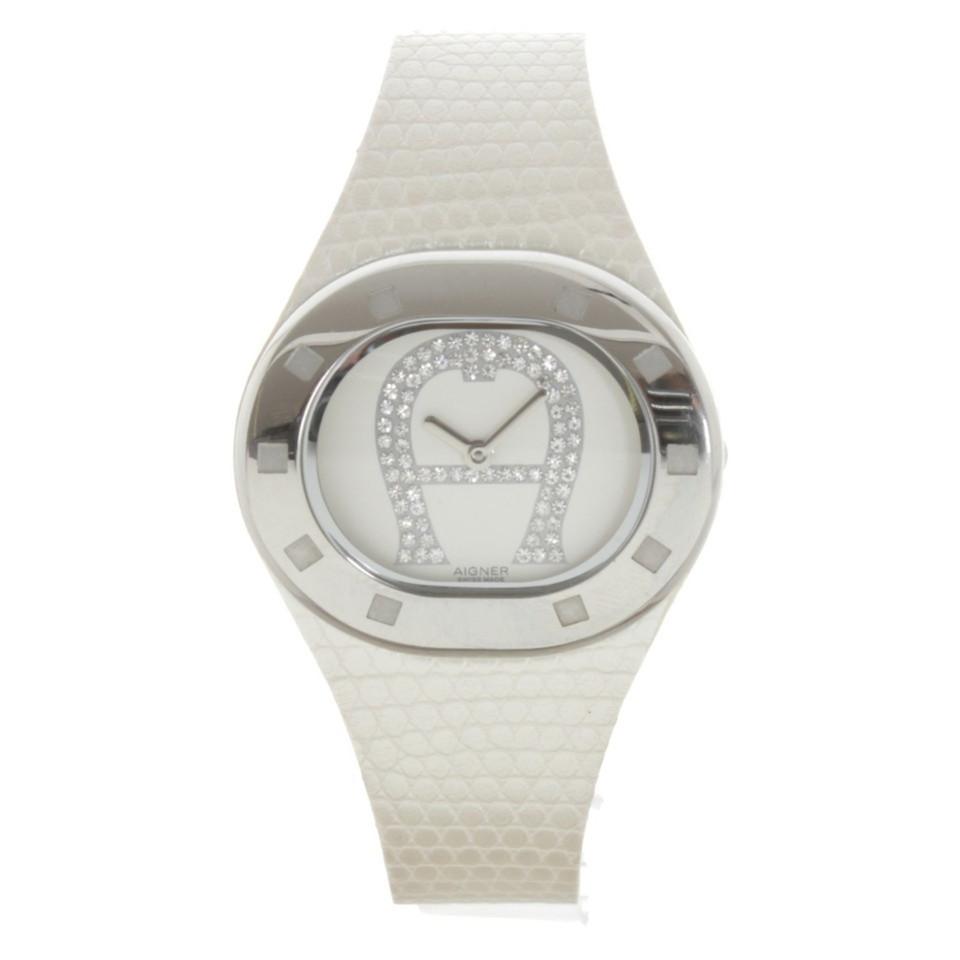 Aigner Montre-bracelet en blanc / argent
