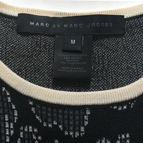 Marc Marc Schwarz Jacobs Bedrucktes Kleid Jacobs BaZ8qw0w