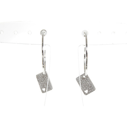 Christian Dior Zilverkleurige oorringen