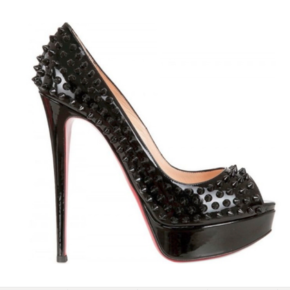 Christian Louboutin Peep toes with studs trim