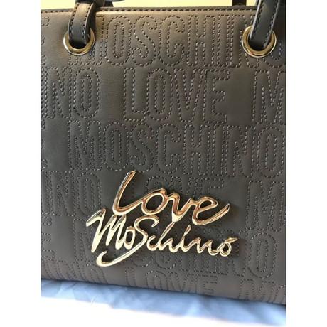 Moschino Love Tasche mit Monogramm-Muster Ocker Große Überraschung Empfehlen Online Wählen Sie Einen Besten Günstigen Preis Günstig Kaufen Großen Verkauf Footlocker Bilder Verkauf Online KPZFumEd