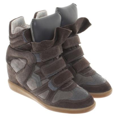 Isabel Marant Sneaker-Wedges in Braun