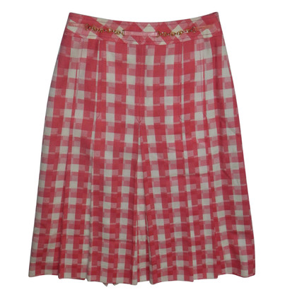 Céline skirt with checked pattern