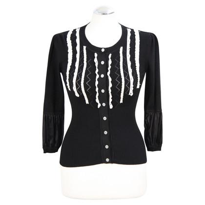 Karen Millen Pullover in Schwarz/Weiß