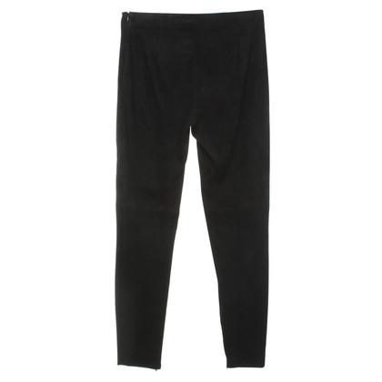 Ralph Lauren Suede broek in zwart