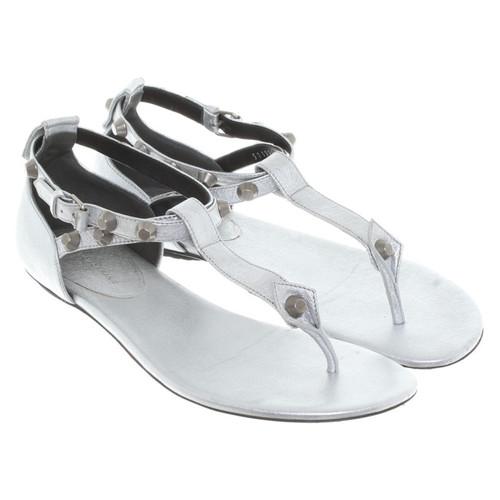 lussureggiante nel design grande liquidazione moda firmata Balenciaga Infradito di fase in argento - Second hand ...